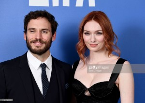 LONDON, ENGLAND - DECEMBER 01: Sam Claflin and Eleanor Tomlinson attend the British Independent Film Awards 2019  at Old Billingsgate on December 01, 2019 in London, England. (Photo by Dave J Hogan/Getty Images)